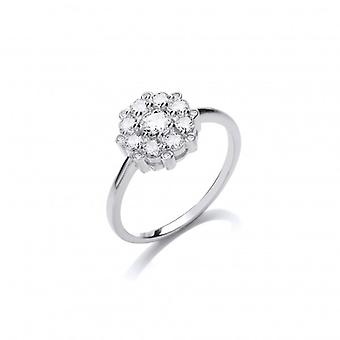 CZ y plata francesa Cavendish Me olviden no anillo
