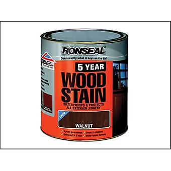 Ronseal 5 anni Woodstain noce 2.5 litri