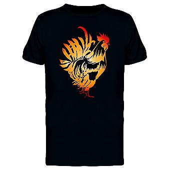 Red Fire Rooster Gradient Tee Men's -Image by Shutterstock