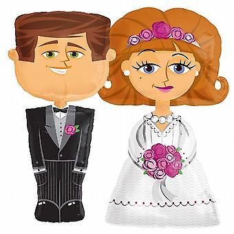 Elio qualità Lamina palloncino Air Walker matrimonio sposa sposo (SC14269-14271)