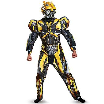 Bumblebee Deluxe Transformers The Last Knight Superhero Mens Costume Plus