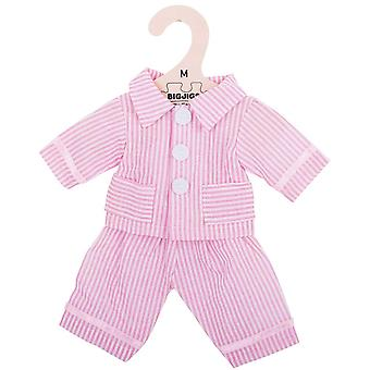 Bigjigs Toys Pink Striped Pyjamas Doll (34cm) Clothing Outfit Dress Up