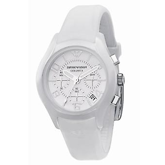 Emporio Armani Ar1431 Ladies bianco ceramica quadrante bianco orologio