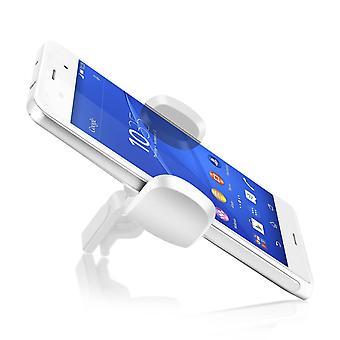 Akashi smartphone Holder del coche 360 ° respiradero giratorio de aire blanco