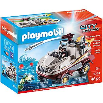 Playmobil 9364 City Action Amphibious Truck - Motor, Cannon
