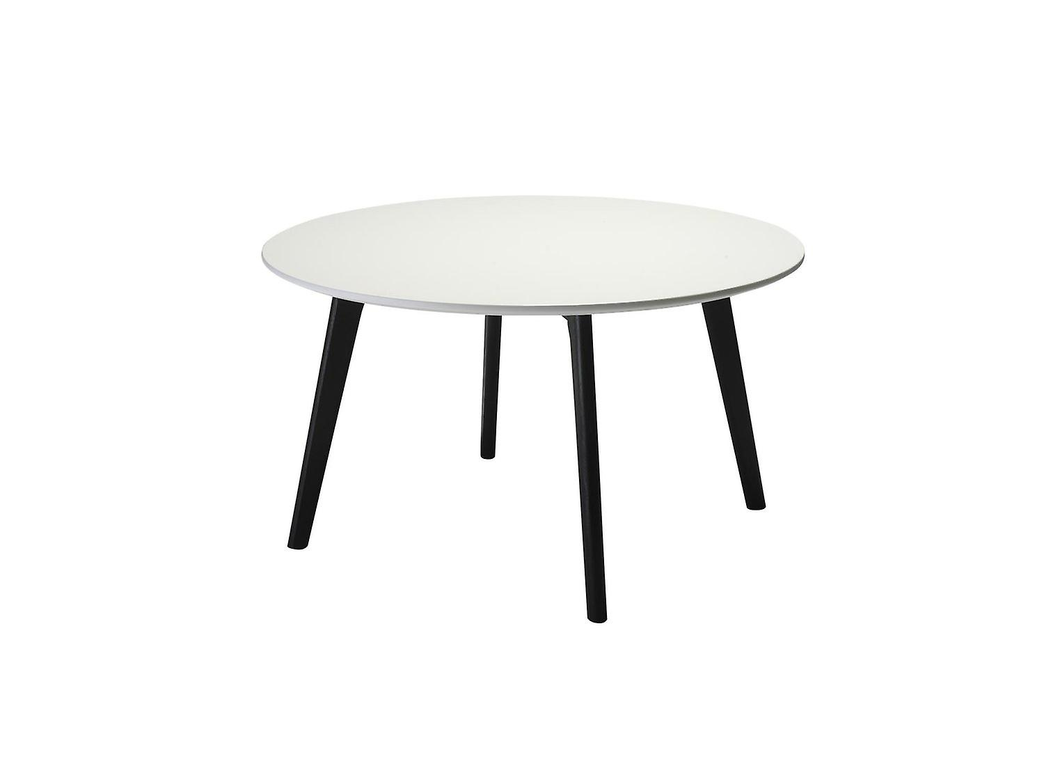 Furnhouse Life Coffee Table, blanc Top, noir boisen Legs, 80x80x45 cm