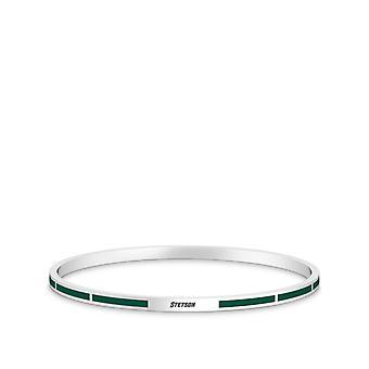 Stetson University Stetson Engraved Enamel Bracelet In Dark Green