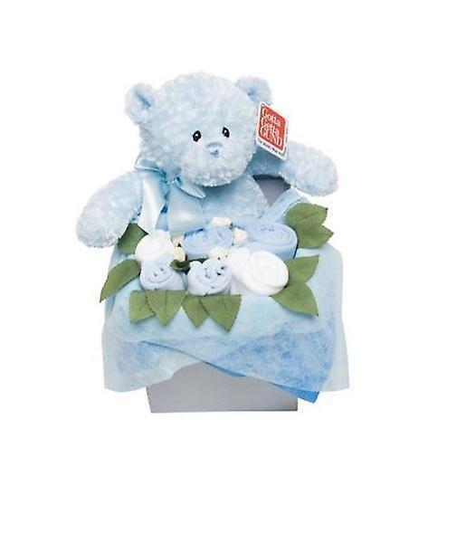 FFaibleer Stork Teddy Bouquet Box  bleu 3 - 6 Months