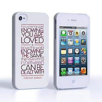 Caseflex iPhone 4 and 4s Michael Jackson Quote Case