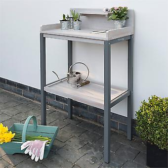 Florenity Grigio Eucalyptus Wooden Grey Potting Table