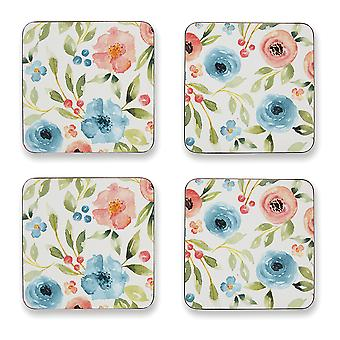 Cooksmart Country Floral Set of 4 Coasters