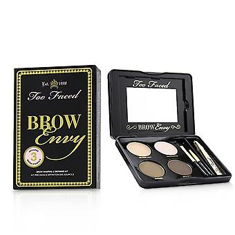 Too Faced Brow Envy Shaping & Defining Kit : (1x Setting Wax, 1x Highlighter, 2x Brow Powders, 1x Tweezer, 1x Angled Brush, 1x Spooley) 3.6g/0.12oz