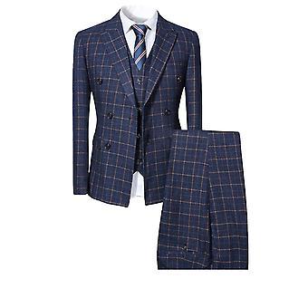 Allthemen Mens 3pcs Silm fit Plaid 3 Pieces Suit( Blazer 'Vest 'Pantalon )