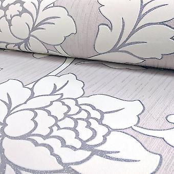 Arthouse Anya Rose Flower Pattern Fond d'écran Embossed Floral Glitter Motif 886100