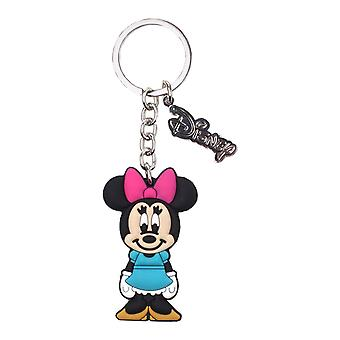 Minnie Mouse Keyring Keychain new Official Disney Rubber