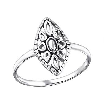 Marquise - 925 Sterling Silver Plain Rings - W25005X