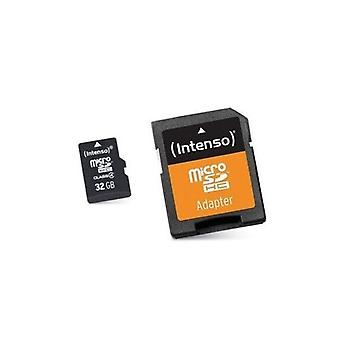 Micro SD with adapter INTENSO 3413480 32 GB class 10 memory card