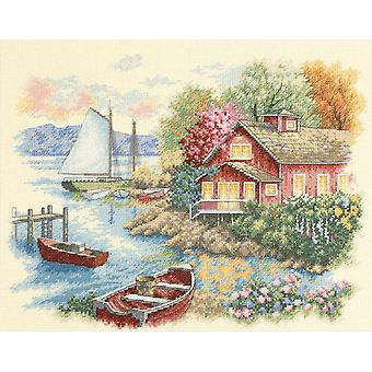 Peaceful Lake House Counted Cross Stitch Kit 14
