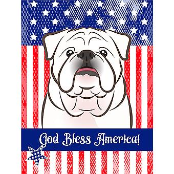 White English Bulldog  Flag Canvas House Size BB2150CHF