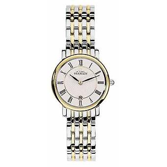 Michel Herbelin Womans Two Tone Stainless Steel Gold Silver Strap 16945/BT01 Watch