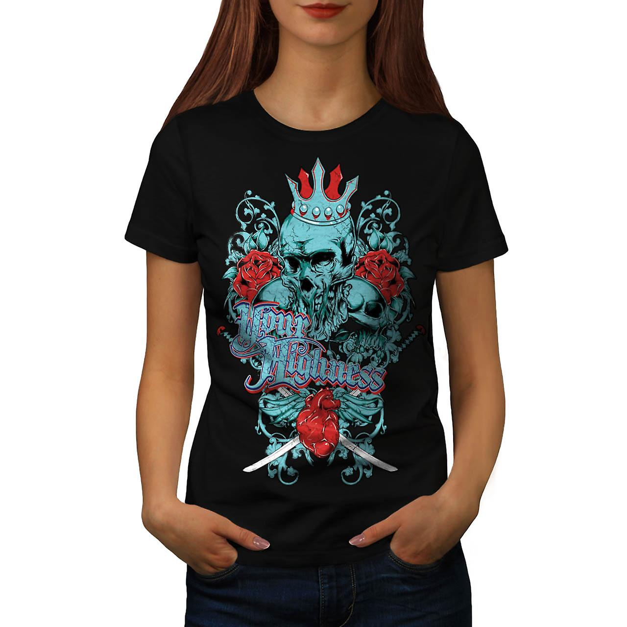 Your Highness Horror Heart Break Women Black T-shirt | Wellcoda