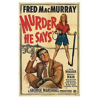 Murder He Says Movie Poster (11 x 17)