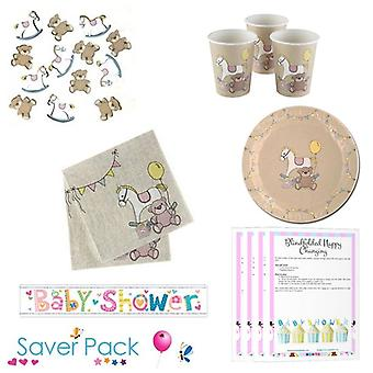 Rock-A-Bye Baby Shower Tableware Saver Pack