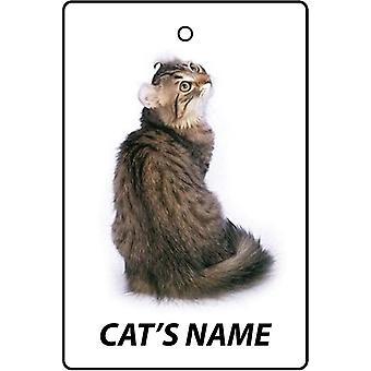 Personalised American Curl Cat Car Air Freshener