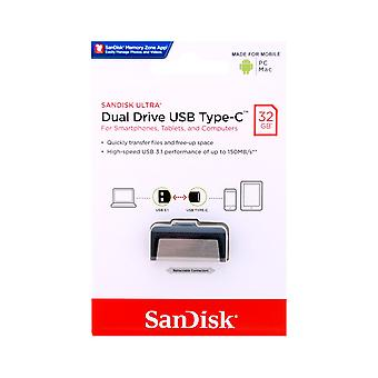 SanDisk 32GB Android Ultra Dual USB 3.1 Flash coche.-tipo C - SDDDC2-032G-G46
