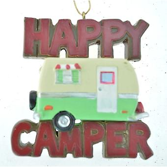 Happy Camper Travel RV Christmas Holiday Ornament 3 Inches