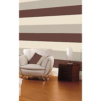 3 Stripe Colour Pattern Textured Brown Beige Cream Wallpaper Direct Wallpapers