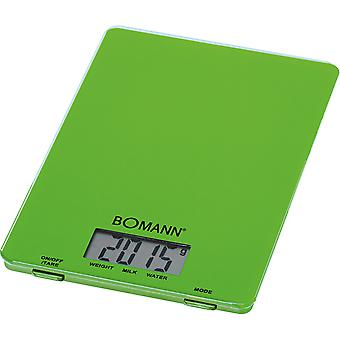 Bomann Balanza Digital Kw 1515 Verde (Home , Kitchen , Kitchen tools , Kitchen scale)