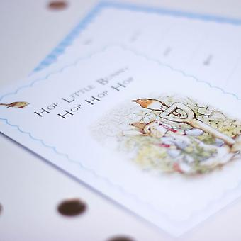 Peter Rabbit  Invites with Blue Scallop design and Robin with Envelopes Set of 6
