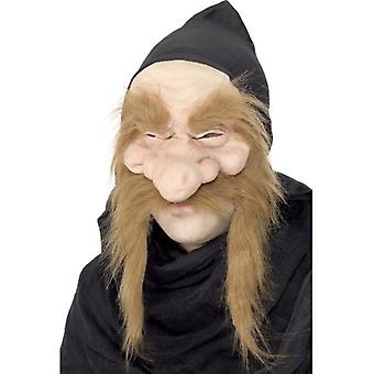 Smiffys Gold Digger Mask Brown Half Face With Hood (Costumes)