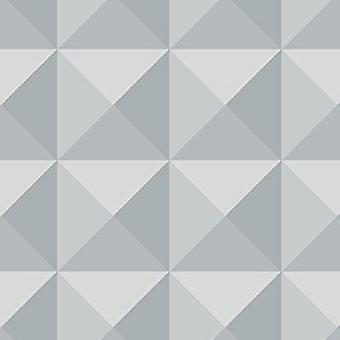 3D Geometric Wallpaper Modern Luxury Grey Charcoal Futuristic Paste The Paper