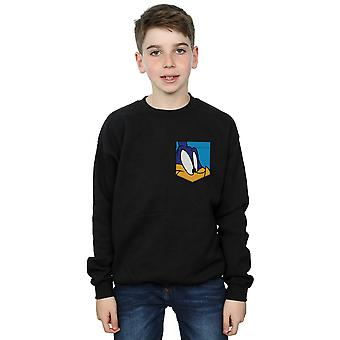 Looney Tunes Boys Road Runner Face Faux Pocket Sweatshirt