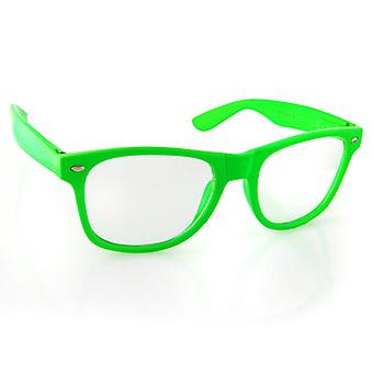 Iced out bling sunglasses - RETRO green clear