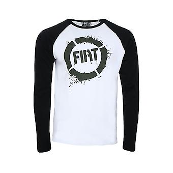 FIAT shirt men's long sleeve-shirt White sweater made in Italy