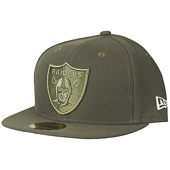 New era 59Fifty Cap - salute to service Oakland Raiders
