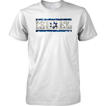 Israel Grunge Country Name Flag Effect - Kids T Shirt
