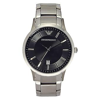Armani Watches Ar2457 Gents Silver & Black Watch