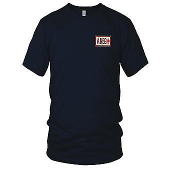 US Armee - Blutgruppe A negativ Wüste gestickt Patch - Haken und Schleife-Herren-T-Shirt