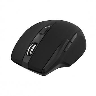 DELTACO wireless optical mouse, 5 buttons, 1600 dpi, USB, black