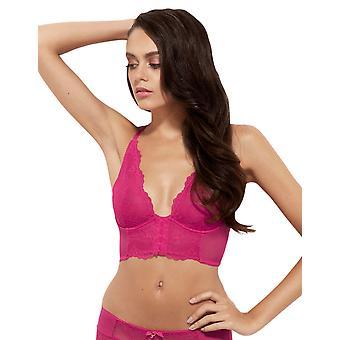 Gossard 7718 Women's Superboost Lace Bright Rose Pink Non-Padded Underwired Deep Plunge Plunge Bra