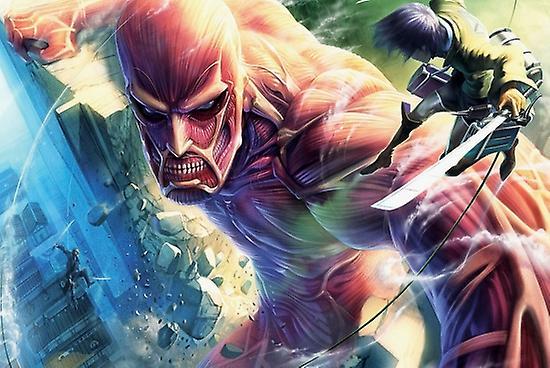 Attack On Titan Cartoon Poster Poster Print