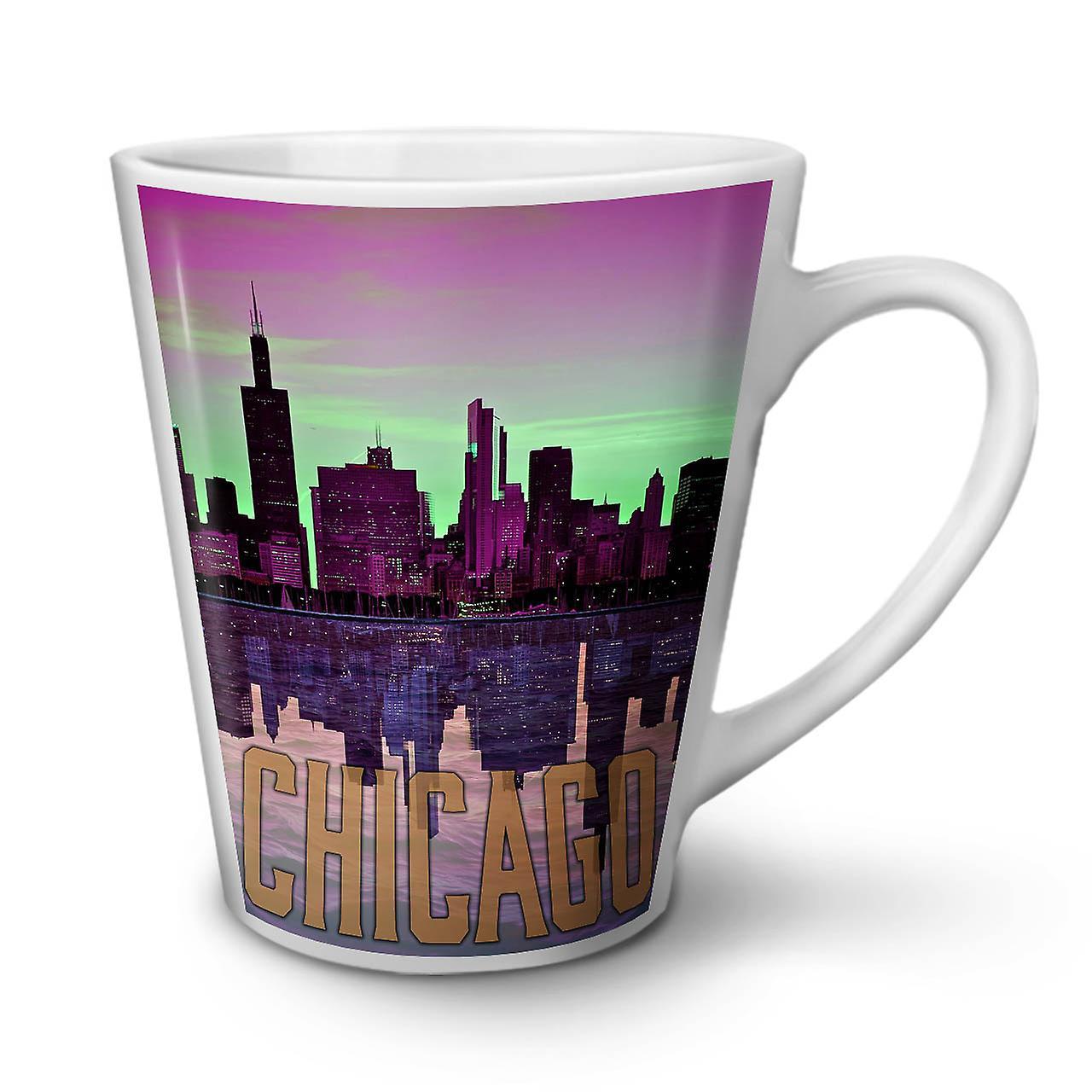 Céramique Latte Sunset Nouvelle Chicago 12 Blanche OzWellcoda Tasse Mode Café En R3Aj4Lq5