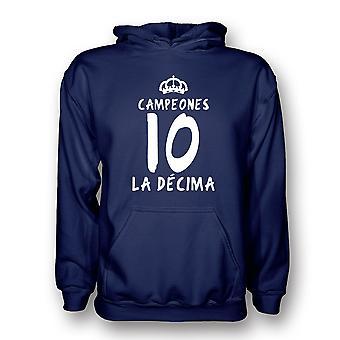 Real Madrid La Decima con capucha (Armada) - niños