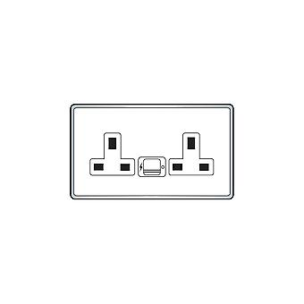 Hamilton Litestat Hartland Gloss Wht US99 + 2x USB Wht