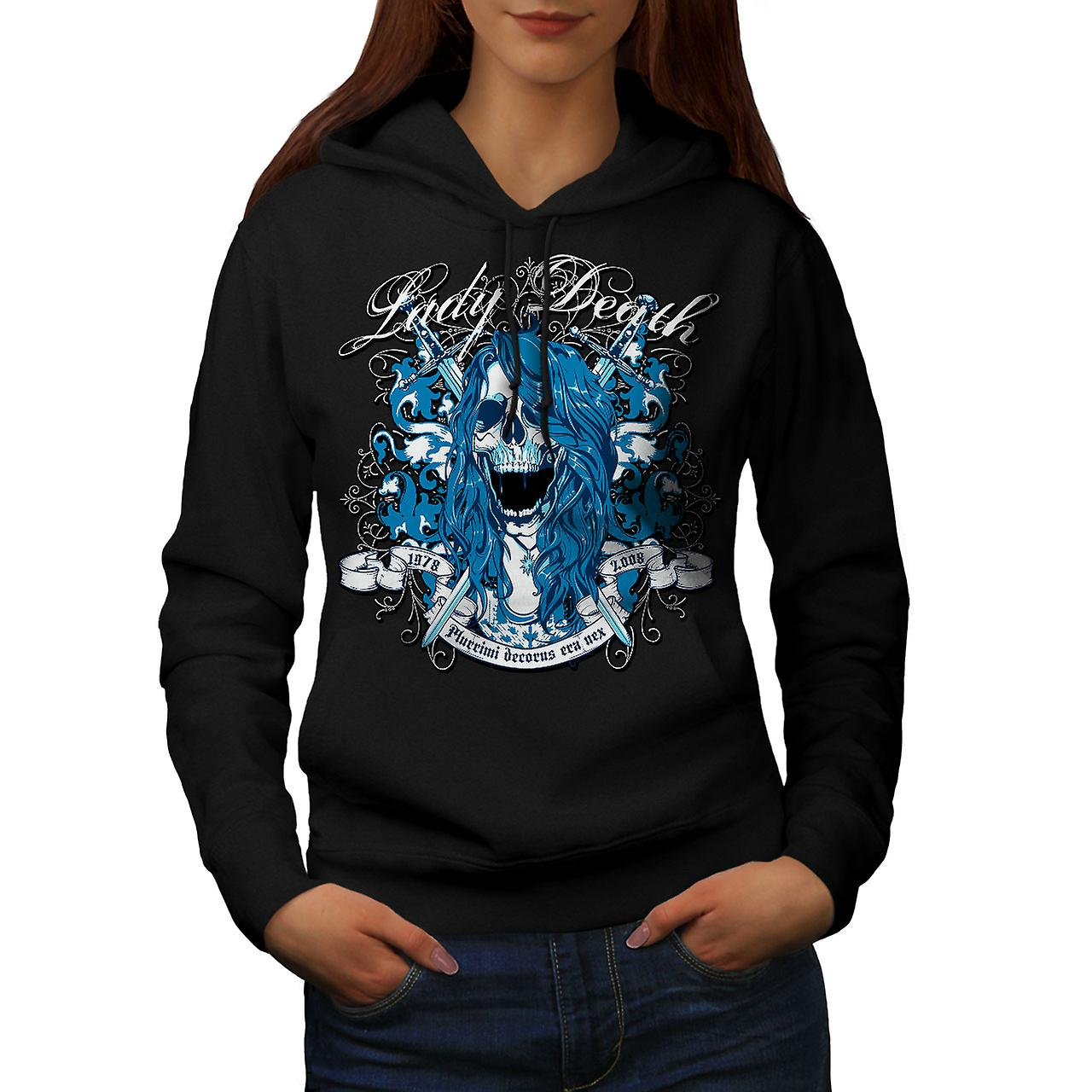 Lady Death Horror Skull Women Black Hoodie | Wellcoda