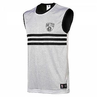 Adidas Brooklyn Nets Summer Run Reversible tank [black/white]